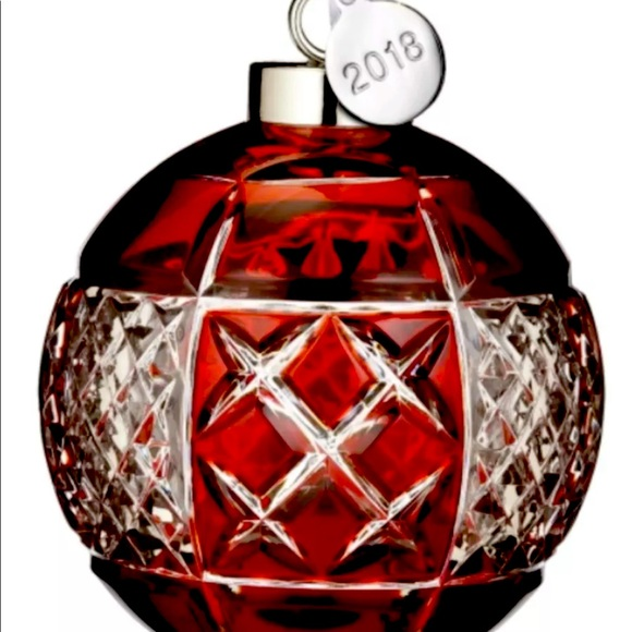 RETIRED WATERFORD RUBY CRYSTAL ORNAMENT